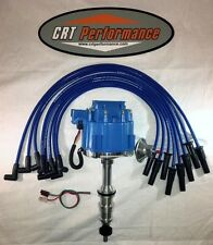 FORD FE HEI DISTRIBUTOR 332,352,360,390,406,427,428 BLUE + SILICONE PLUG WIRES