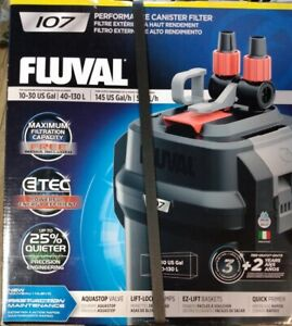 Fluval 107 Performance Canister Filter For Aquariums 10-30 Gal. A440 New