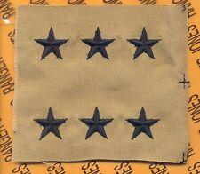 US ARMY Lieutenant General LTG 0-9 Desert DCU rank patch set