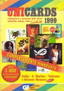 Catalogo Cards UNICARDS Schede Telefoniche Collezione SIP-Telecom da 1 al 1999