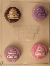 WEDDING CAKE COOKIE CLEAR PLASTIC CHOCOLATE CANDY MOLD W070