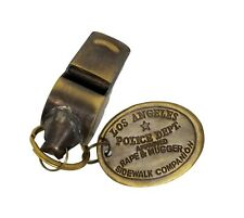 LAPD (Los Angeles Police Department) 1920's Brass Police Rape Tag Whistle