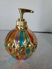 GLASS Vintage Rainbow Soap Dispenser
