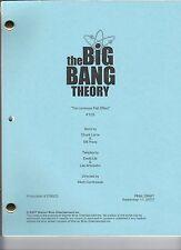 "THE BIG BANG THEORY script ""The Luminous Fish Effect"""