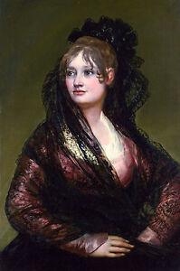 Francisco Goya, Portrait of Doña Isabel de Porcel, Museum Poster, Canvas Print