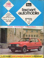 RTA revue technique automobile n° 196 TALBOT SAMBA ls gl gls cabriolet 1983