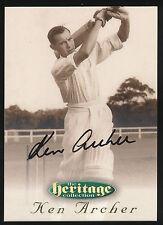 1996 Futera Ken Archer Signature Heritage Collection Cricket Card no. 21
