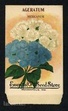 AGERATIUM, Tall Mixed, Everitt's Antique Seed Packet, Kitchen Decor, 205