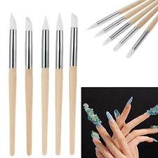 Modish 5Pcs Nail Art Silicone Sculpture Pen Nail Art Pencils Salon Tool Set