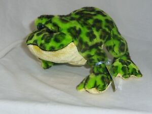 Bullfrog full size 10in Webkinz plush pet with sealed unused code 5 up HM114