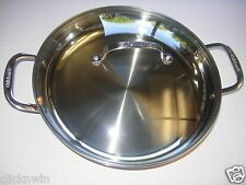 Cuisinart Everyday Pan Stainless Steel w/Tempered Glass Lid Classic Serie NEW