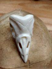 Anello di mortalità: MEMENTO MORI: osso intagliati a mano (Bos Taurus): BIRD Skull Ring