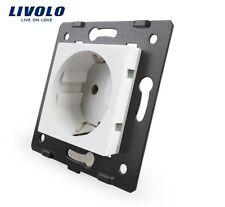 20 x  Steckdose für Livolo Glas Rahmen Weiß Socket VL-C7-C1EU-11 Original