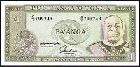 1992-95 TONGA 1 PA'ANGA BANKNOTE * UNC * P-25 *