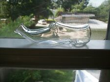 SMALL FIGURAL HAND BLOWN WOMAN'S SHOE PERFUME BOTTLE HAND BLOWN 1890S