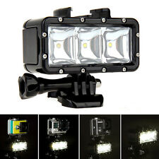 IMMERSIONE SUBACQUEA IMPERMEABILE LED LUCE SPOT PER GoPro 4/3+/3 fotocamere access