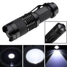 7W 1200lm 1-Mode Mini Zoomable CREE Q5 LED Metal Flashlight Torch Light Black