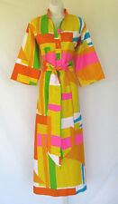 VINTAGE 1980s CATHERINE OGUST FOR PENTHOUSE GALLERY DRESS GEOMETRIC COLOR BLOCK