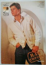 "Hayfield Knitting Pattern DK Men's Cardigan Raw Cotton 32""-44"" Chest"