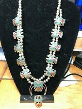 1970's Navajo'Peyote Bird' Necklace & Ring  weight over 5 ozs (2 awesome pieces)