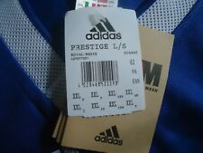 ADIDAS  BLUE THREE STRIPE LONG SLEEVE TOP SIZE XXL-NEW WITH TAGS