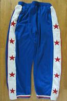 VTG 212 NYC MENS 2XL XXL RED WHITE BLUE STARS BASKETBALL WARM-UP TEAR AWAY PANTS