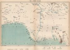 The lower Niger. Nigeria. The Niger Basin 1885 old antique map plan chart
