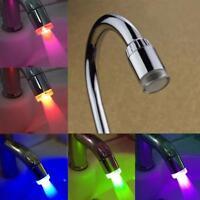 7 Farben Farbwechsel LED Licht Wasserhahn Wasser Armatur Aufsatz Kitchen