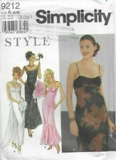 Simplicity Sewing Pattern 9212, Long Fitted Empire Dress, Size 6-16 + Cups NEW