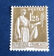 France N° 287 1,25 f Olive Neuf** Gomme Parfaite. TTB Côté 215€