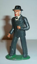 VINTAGE BARCLAY MANOIL LEAD TOY MAN WITH CANE #619 FIGURE Train Passenger