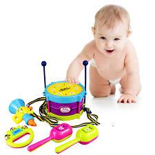 5Pc Baby-Mädchen-Drum Set Musikinstrumente Kinder Schlagzeug Kinderspielzeug hot