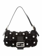 FENDI Beaded Crystal Embellished Baguette Bag
