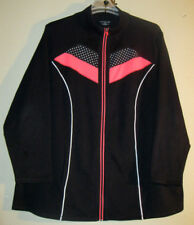 Catherines 2X 22 24 Jacket Black Coral Cotton        OUTSTANDING COLORS & STYLE!