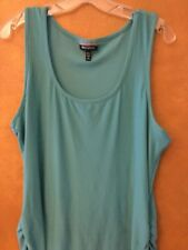 Allison Brittney Woman's Teal Tank With Pick Up Sides Size XL Retail $24.00