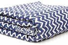 Handmade Blue Kantha Quilt Throw Indian Cotton Bedspread Queen Bedding Gudri