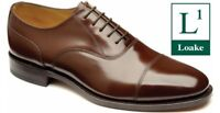 MENS LOAKE 200CH BROWN LEATHER OXFORD LACE UP WEDDING/OFFICE LEATHER SOLE SHOES