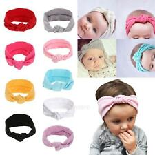Baby Toddler Cute Girl Kids Turban Knot Rabbit Headband Bow Hairband Headwear