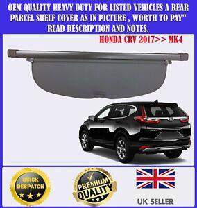 FOR HONDA CRV CR-V MK4 2017>> CARGO PARCEL SHELF LOAD COVER BLIND BLACK