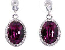 Halo Earrings Rhodium Authentic 7162a Swarovski Element Crystal Calista Christie