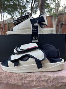 Nike Jordan LS Men's Sandals Slippers Slides Flip Flops Black Beige - Size 12