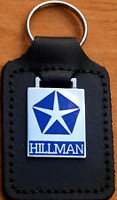 Hillman Keyring Key Ring blue badge mounted on a leather fob