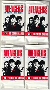 The Avengers In Color 2nd Series Trading Cards 4 NEW PACKS Emma Peel John Steed