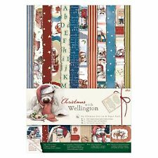 A4 ULTIMATE PAPER & DIE CUT PACK - Wellington Christmas Collection  - DOCRAFTS