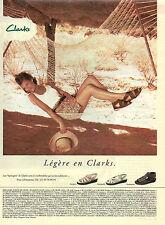 """Publicité 1996  Clarks les """"Springers"""" chaussures pret à porter collection mode"""