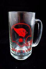 "5.5"" Tall Glass St. Louis Football Cardinals, KMOX Radio Station Beer Mug"