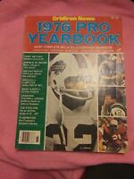 1976 Gridiron News Pro Yearbook O.J. Simpson Joe Namath Ken Stabler NFL CFL