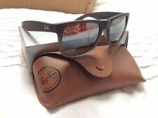 Ray Ban RB4165 Justin Wayfarer Sunglasses - Black/grey Brand New