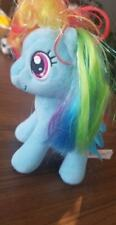 "Aurora My Little Pony 6"" Plush Figure Rainbow Dash Mylar Hair Discontinued (B74)"