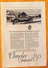 """Magazine Print Ad 1926 Chrysler Imperial """"80"""" / Cine- Kodak Movie Camera"""